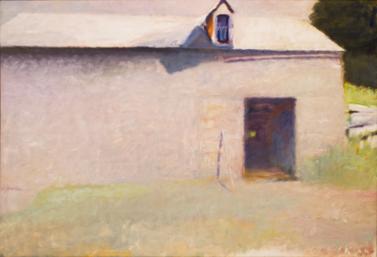 Wolf Kahn, In Praise of Pink, Oil painting, 36 x 52 inches Wolf Kahn art for sale,  Wolf Kahn Oil Paintings, Wolf Kahn barns