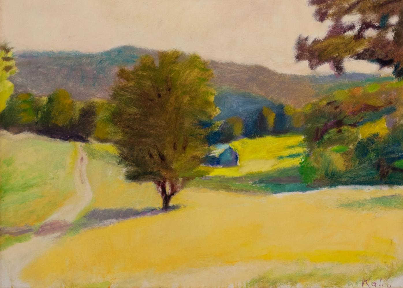 Wolf Kahn, Farmer Olsen's Field, Oil on linen, Wolf Kahn art for sale, Wolf Kahn Landscape Paintings, Wolf Kahn Oil Paintings