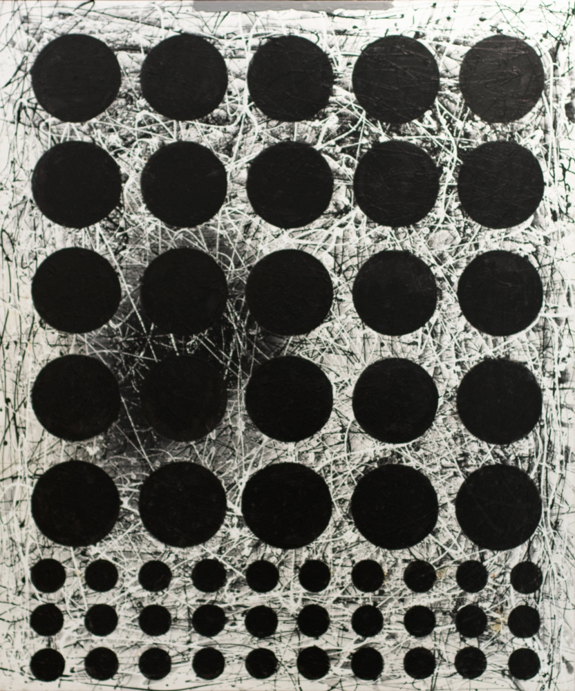 J. Steven Manolis, Black & White (Graphic) 2020, 72 x 60 inches, Acrylic and Latex Enamel on Canvas, geometric abstract art, Abstract Expressionism art for sale at Manolis Projects Art Gallery, Miami, Fl