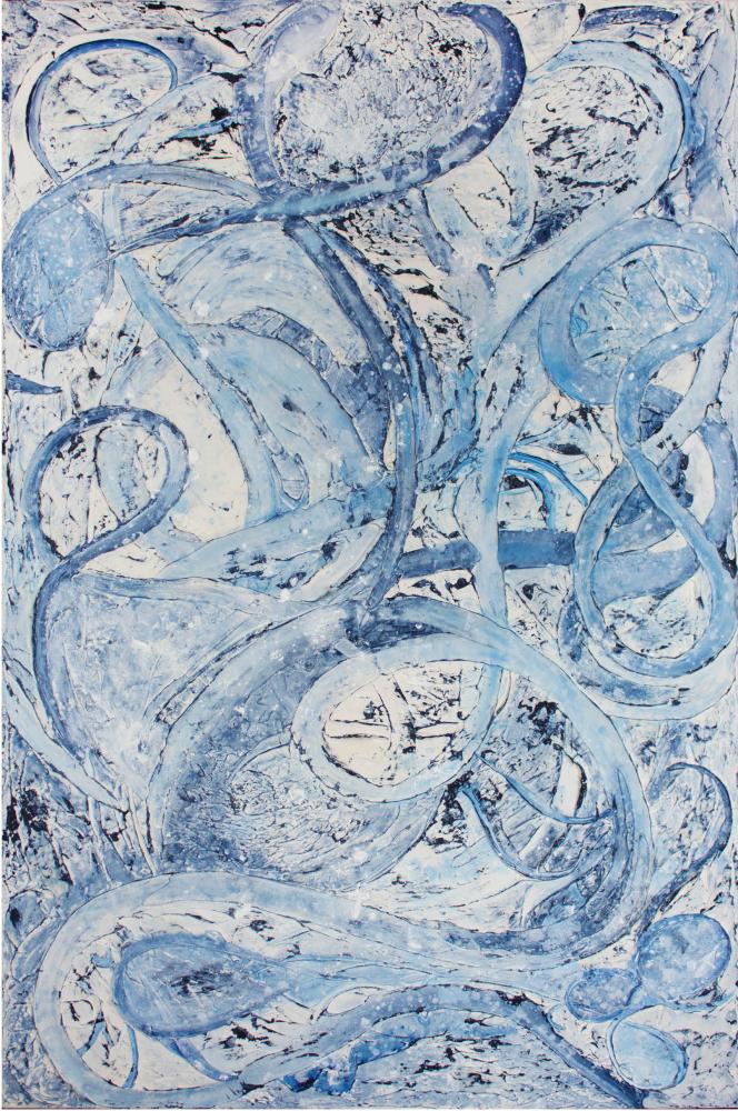 Jill Krutick, The Journey, 2018, Swirl Series, 72 x 48 inches, Acrylic on Canvas