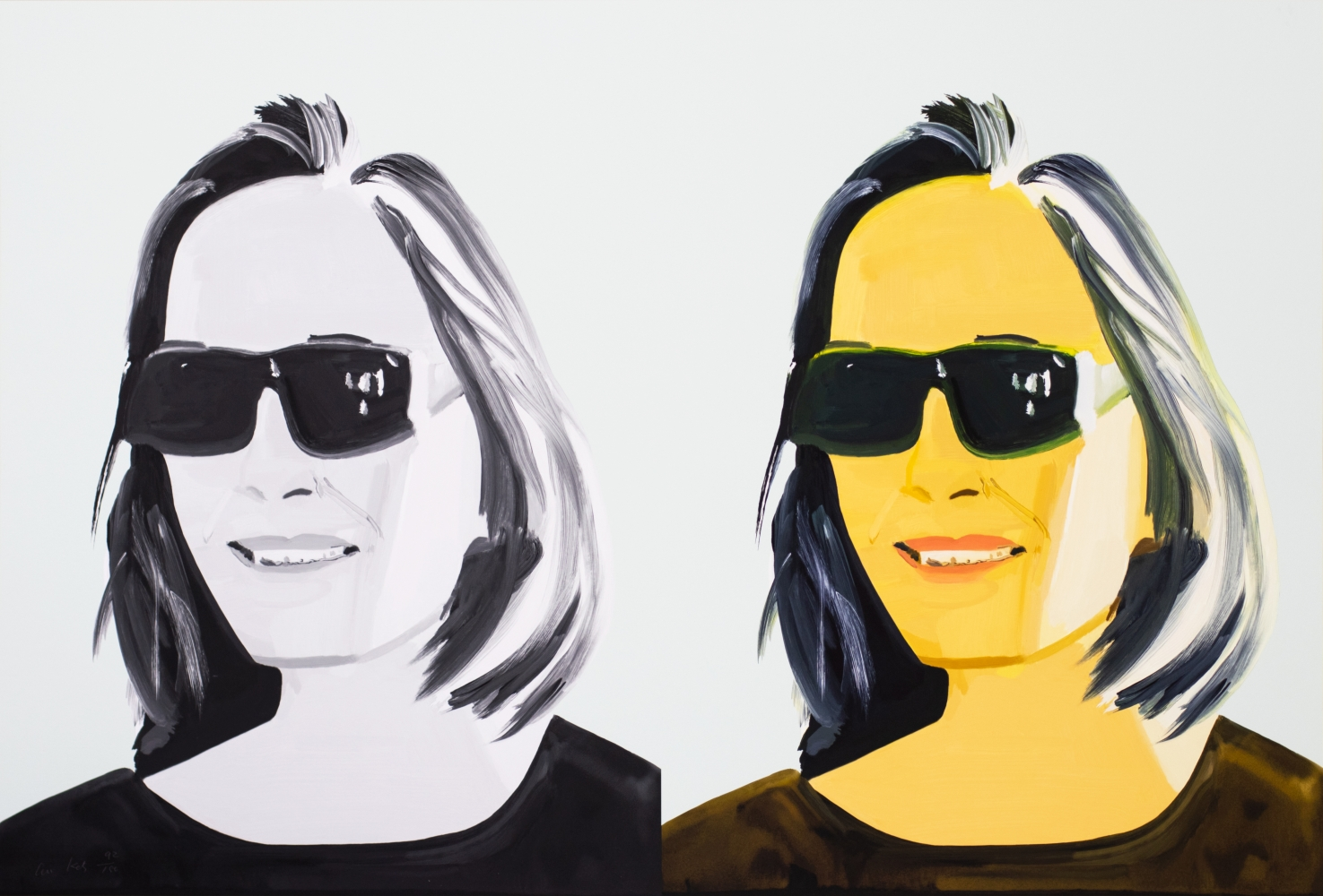 Alex Katz, Ada x's 2, 2020, Archival Pigment Ink on Innova Etching Cotton Rag gsm fine art paper, 38 x 48 inches, edition 92 of 150