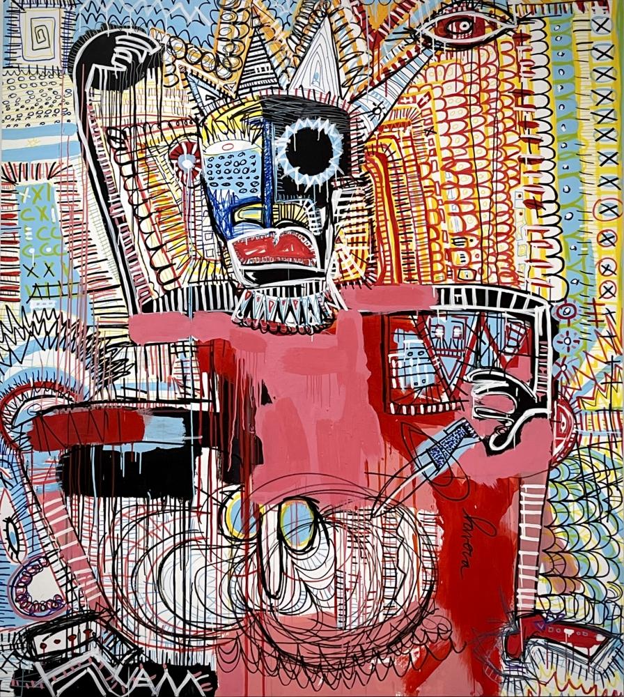 Fernanda Lavera, Number Five, 2020, Graffiti and Street Art for Sale at Manolis Projects Art Gallery, Miami, Fl