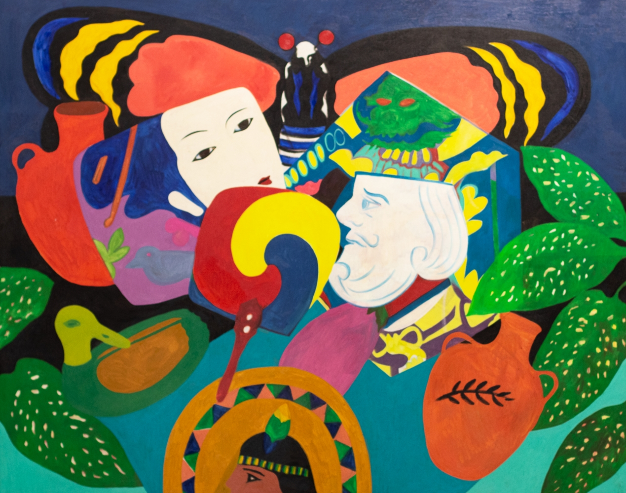 Hunt Slonem, King, 1979, Oil painting on canvas, 48 x 60 inches, Large scale painting, Hunt Slonem art for sale