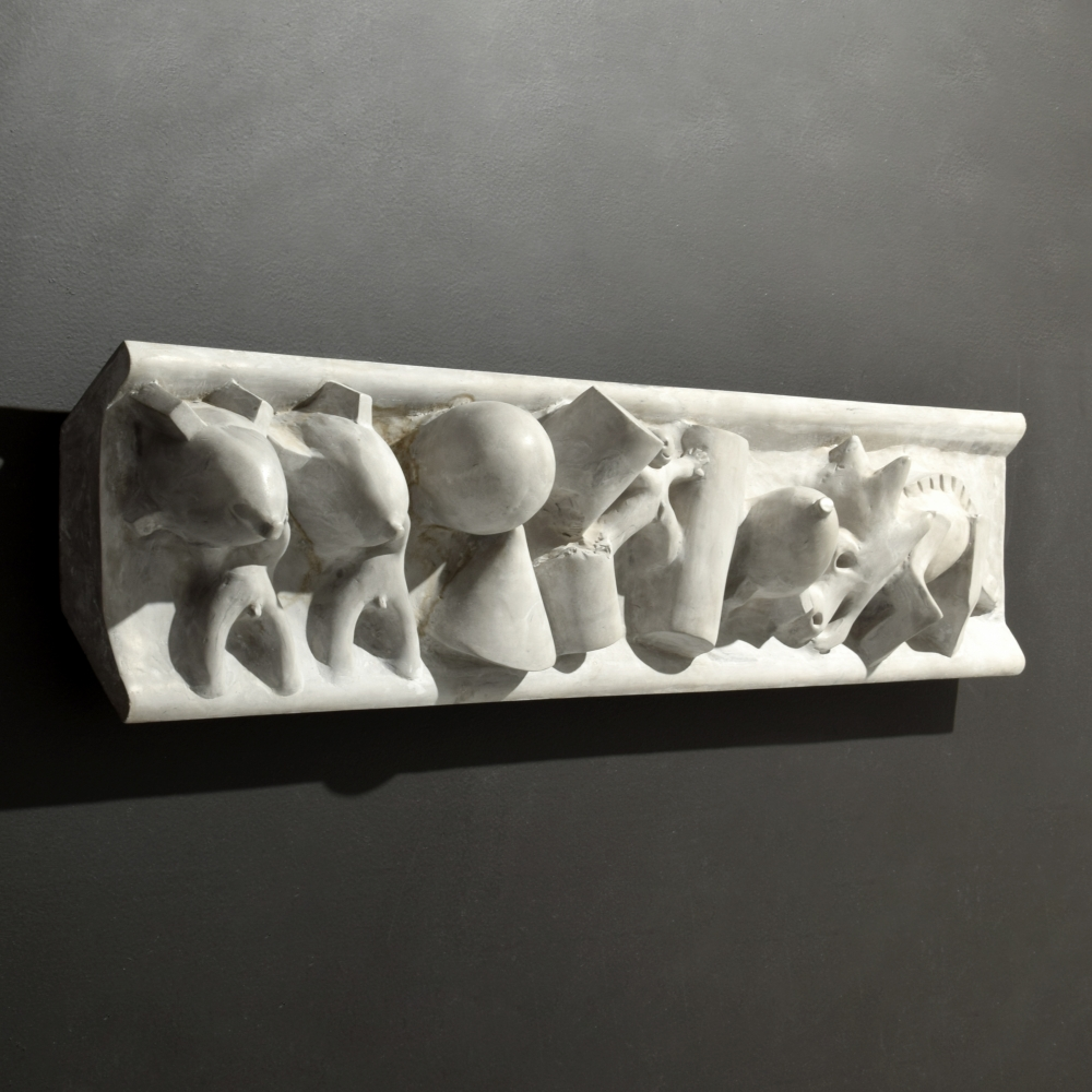 Tom Otterness, Battle of the Sexes, 1983, Cast Polyadam, 11h x 45w x 5d inches, Edition of 3