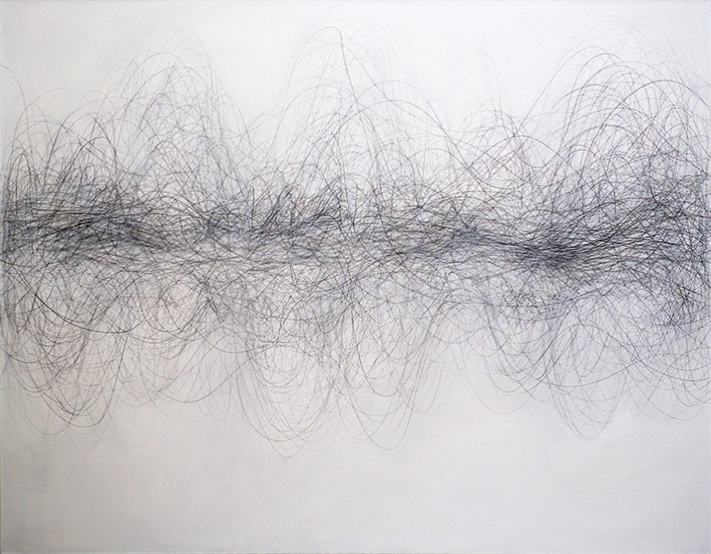 Margaret Neill artist, Reconcile, Graphite and Acrylic on canvas, 2020, 56 x72 inches, Margaret Neill paintings for sale