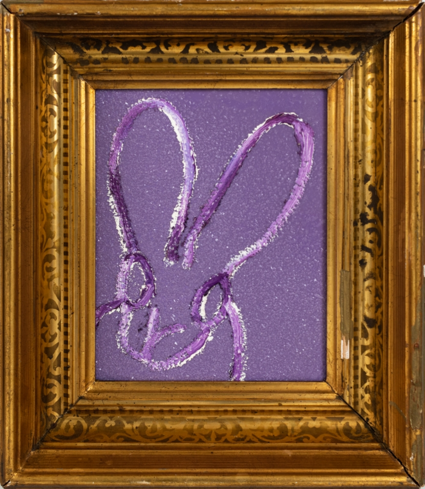 Hunt Slonem, Sparkle, 2021, Oil, Acrylic and Diamond Dust on wood, 10 x 8 inches, (F) 14.5 x 12.5 inches, Hunt Slonem Bunnies for sale