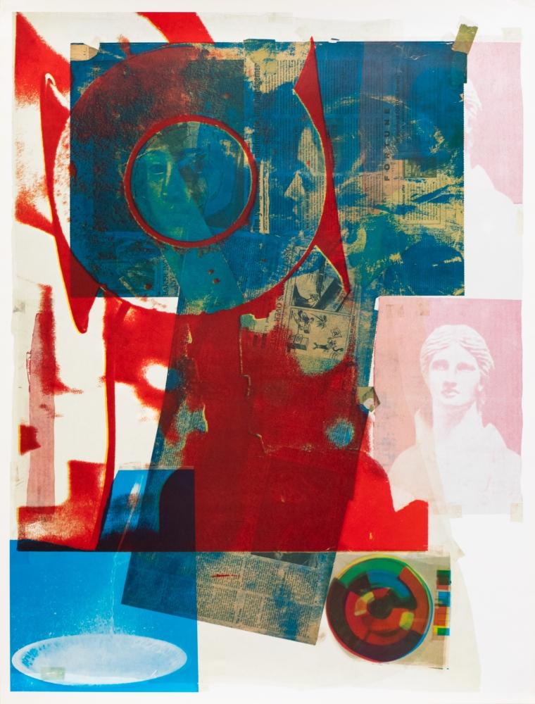 Robert Rauschenberg, Quarry Local One, 1968, Lithograph, 33.75 x 25.5 inches, edition of 850 & 500 unsigned, Robert Rauschenberg prints, Robert Rauschenberg art for sale