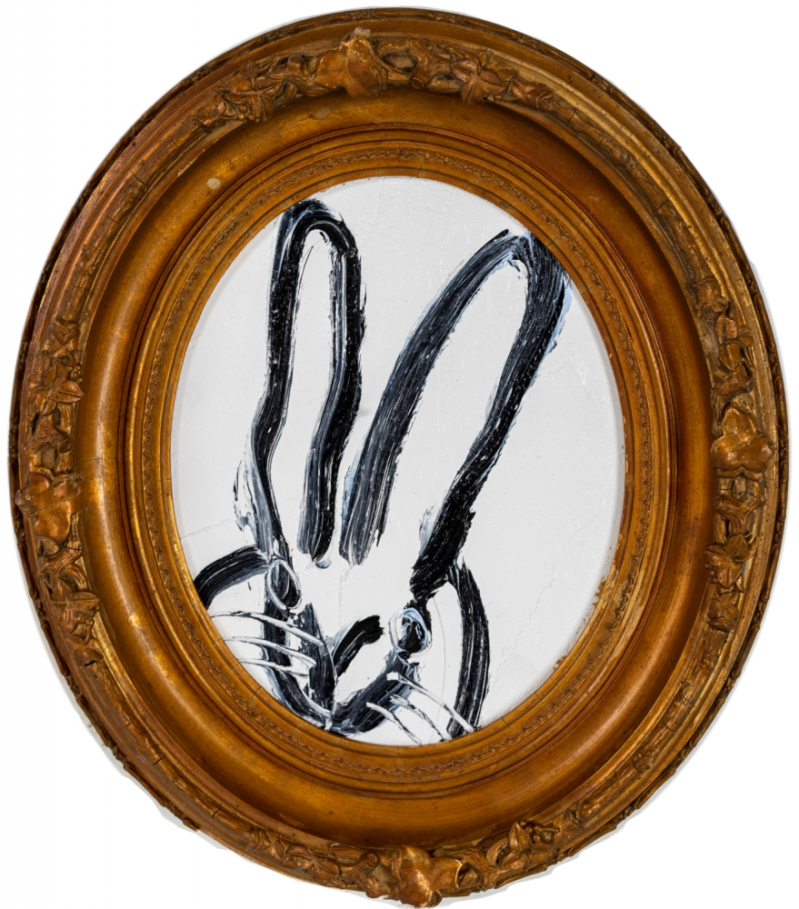 Hunt Slonem, Monte Bunny Painting, 2021, oil on wood, 10 x 8 inches, Hunt Slonem bunnies for sale