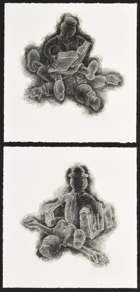 Tom Otterness, Educating the Rich, 1993, hardground etching on paper, 10.75 x 11, Ed 15_25