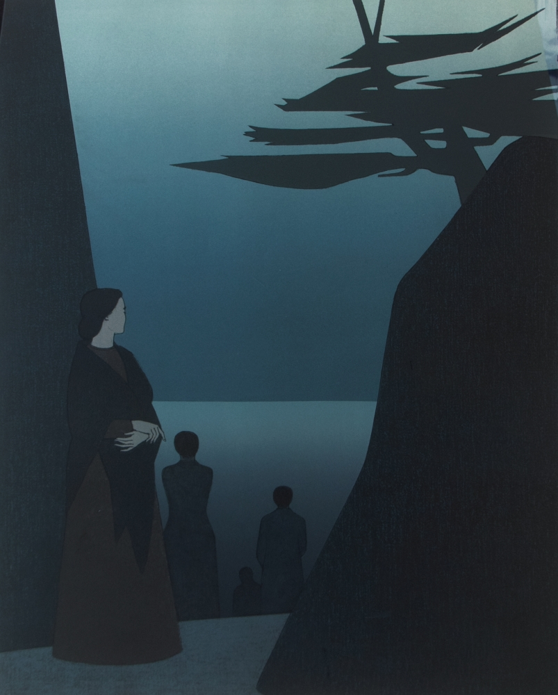 Will Barnet, Way to the Sea, 1981, Lithograph and Silkscreen on paper, 40 x 30 inches, 51 x 41 inches, edition 112 of 300, Will Barnet prints