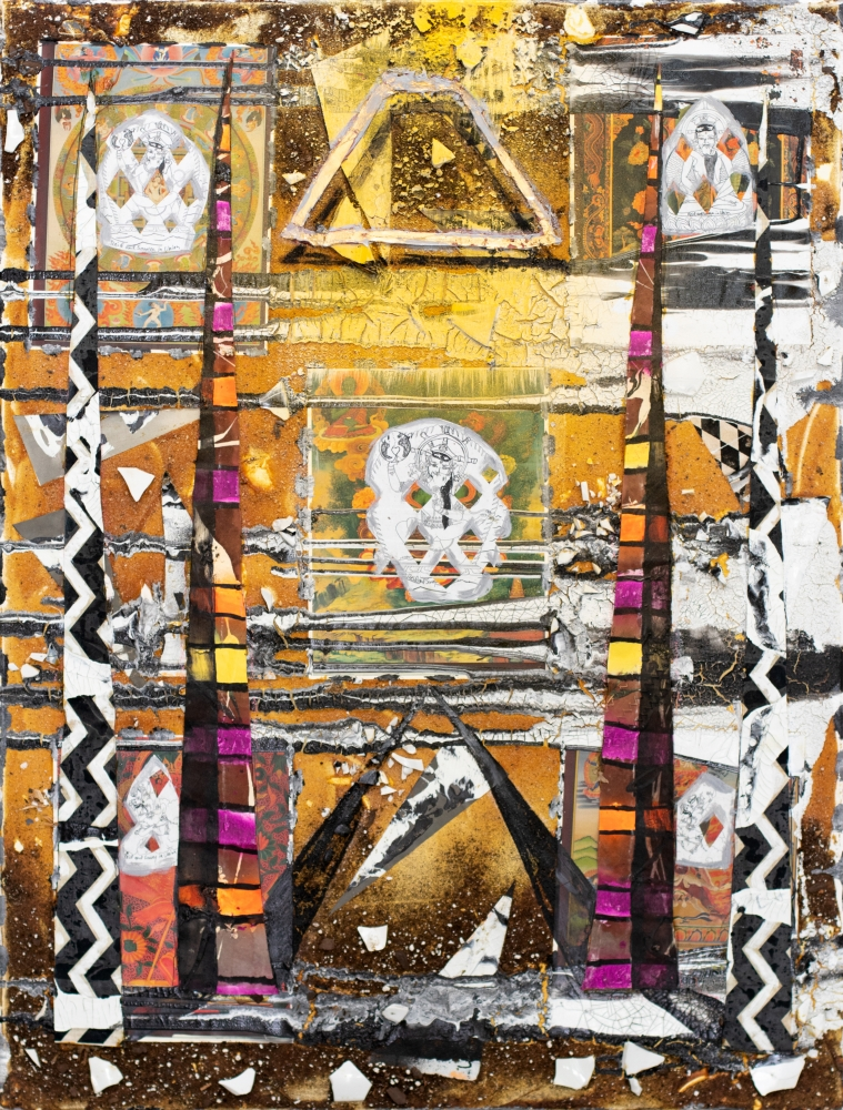 Reid Stowe, In Union Showing Proposed Heart Course, 2016, Mixed-media, 40x30
