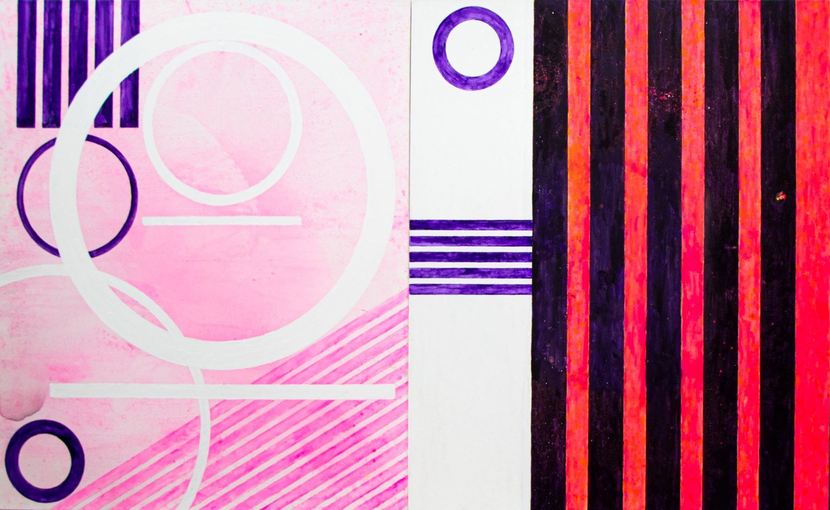 J. Steven Manolis, Miami Joy, 2020, 72 x 120 inches, Acrylic painting on canvas, Geometric Abstract Art, Miami Wall art For sale at Manolis Projects Art Gallery, Miami Fl