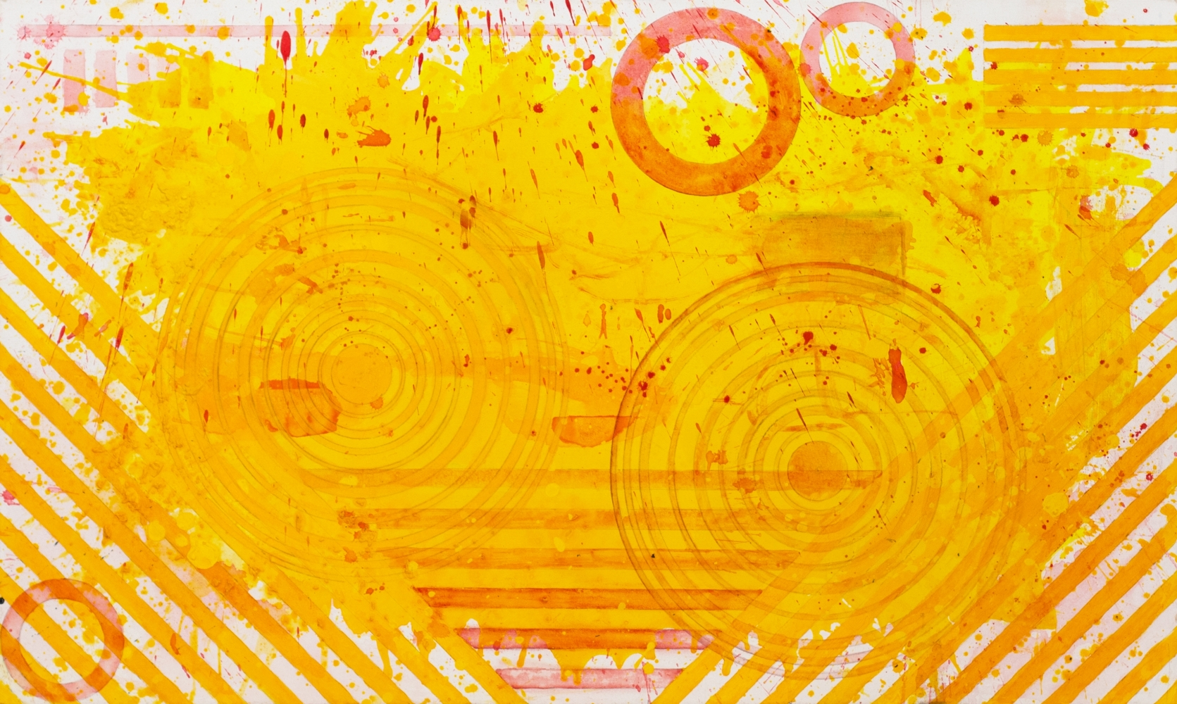 J.Steven Manolis, Sunshine (36.60.05), #5 sunshine series, 2020, acrylic and Latex Enamel on canvas, 36 x 60 inches, Sunshine art, Large Abstract Wall Art for Sale at Manolis Projects Art Gallery, Miami Fl