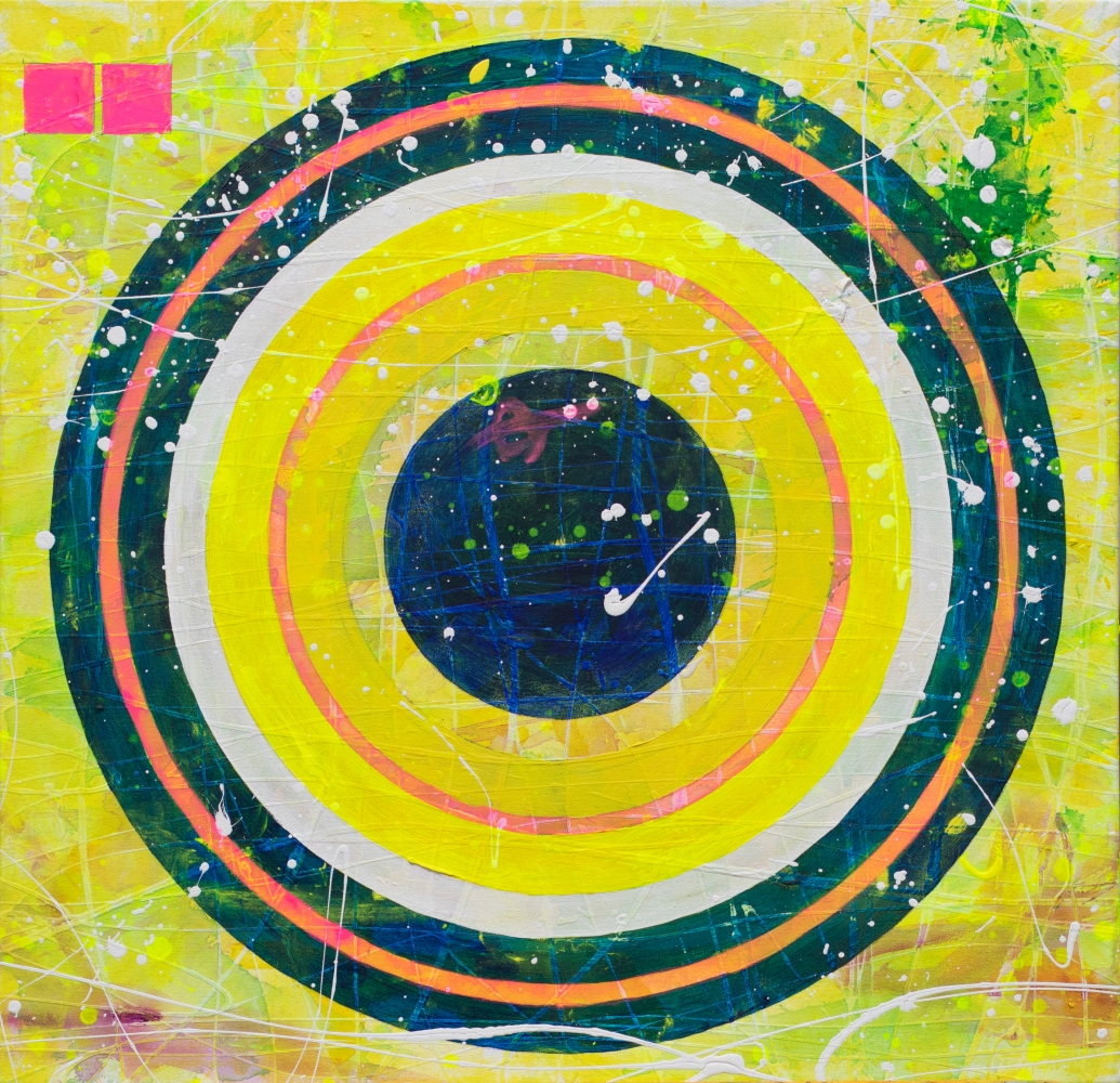 J. Steven Manolis, California Dreaming (Highway 1) 2018.03, 2018, Acrylic painting on canvas, 32 x 33 inches, Geometric Abstraction, abstract expressionism art for sale
