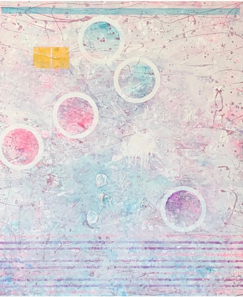 J. Steven Manolis, Exumas 1, 2019, Acrylic painting on canvas, 72 x 60 inches, white abstract art