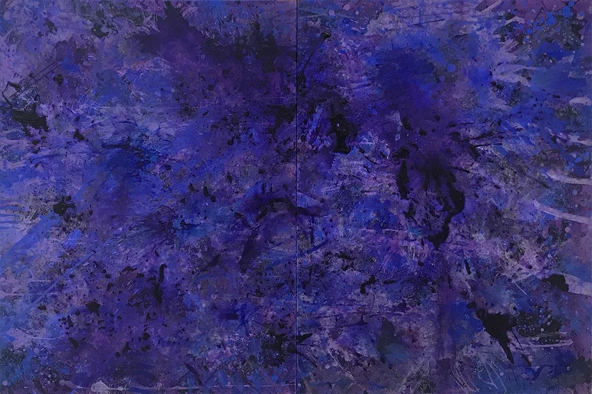 J. Steven Manolis, PurpleField, 2017, 48 x 72 inches, 48.72.01, Acrylic on canvas
