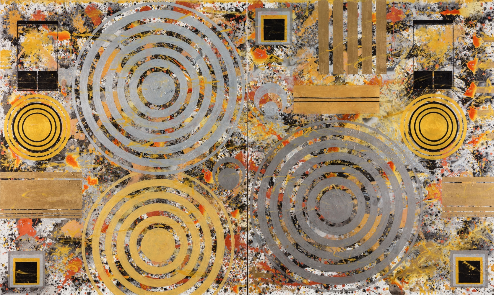 J. Steven Manolis, Metallica 72.120.01, 2018, Acrylic on canvas, 72 x 120 inches, For sale at Manolis Projects Art Gallery, Miami Fl