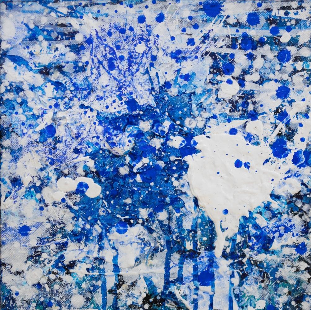 J. Steven Manolis, Splash (10.10.08), 2016, Acrylic painting on canvas, Splash Art, Blue Abstract Art for sale