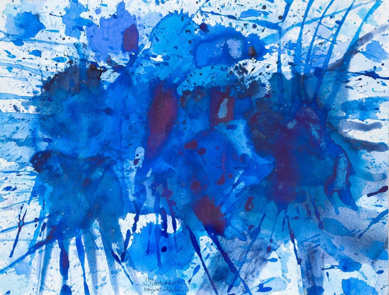 J. Steven Manolis, Splash-Key West (12.18.08), 2016, Watercolor, Acrylic and Gouache on paper, 12 x 18 inches