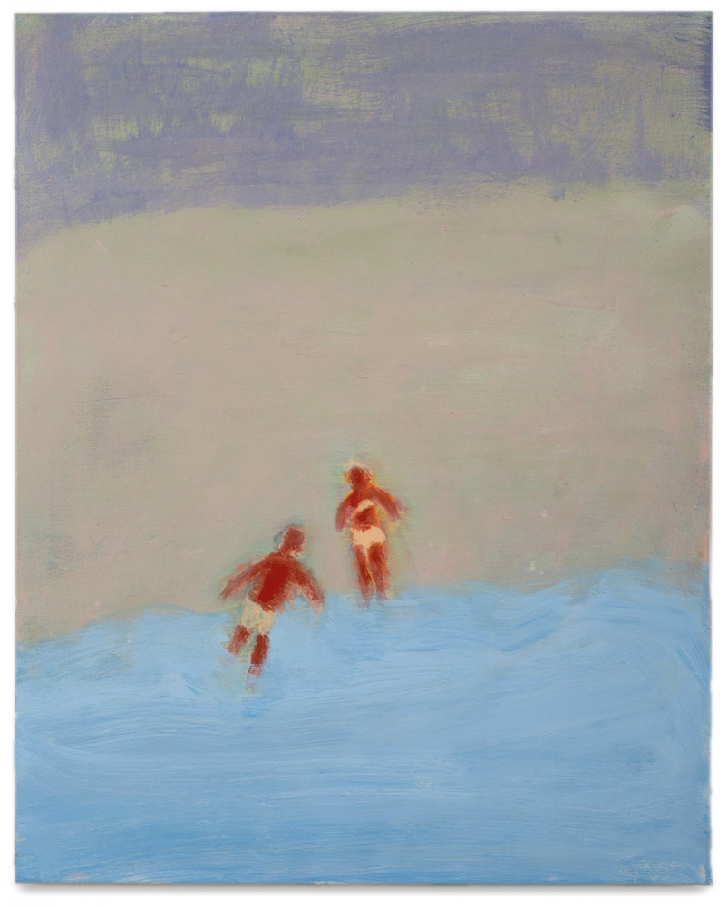 Katherine Bradford, Two Swimmers, Pearly Gray Light, 2016