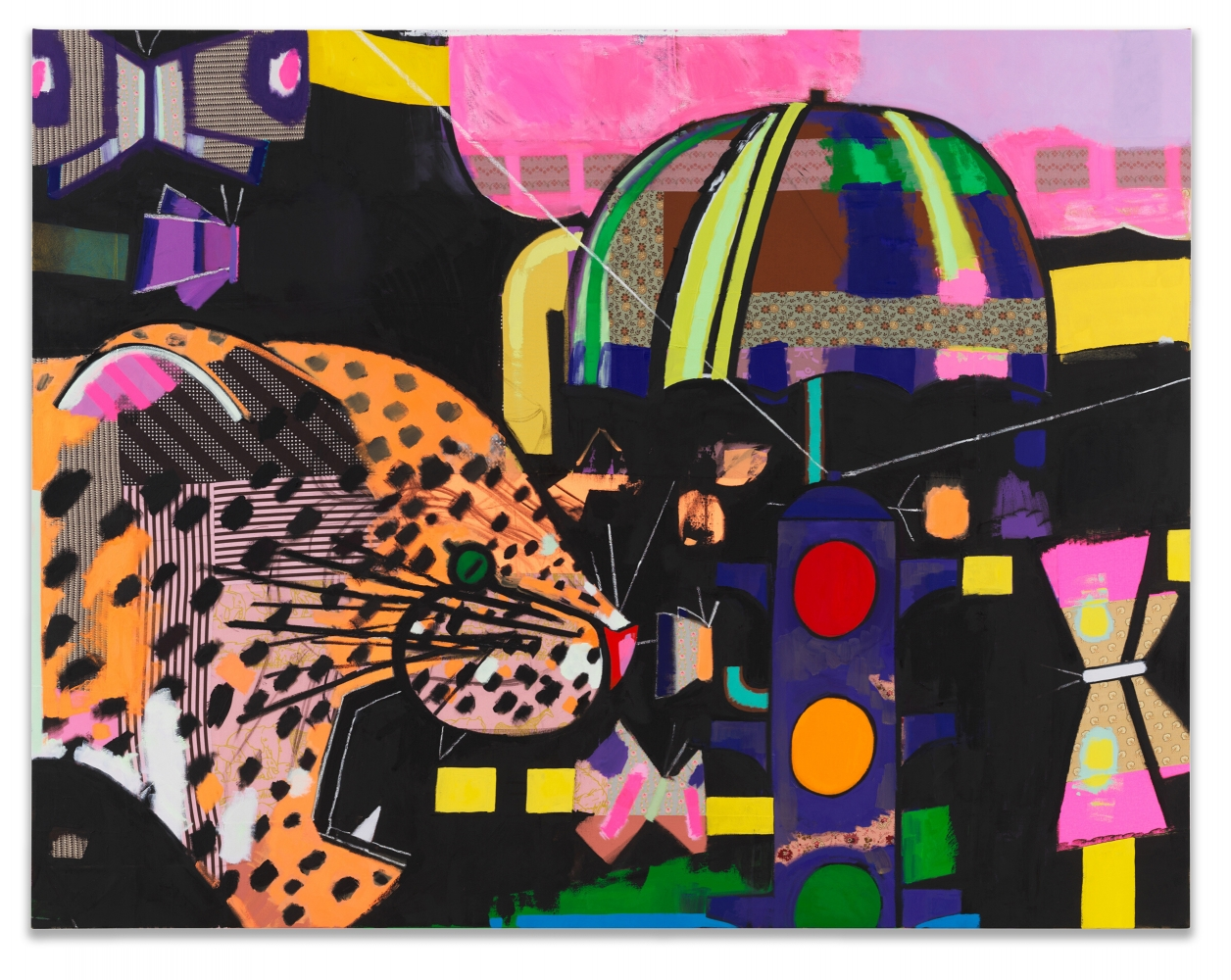 Ellen Berkenblit, Calico Leopard, 2019