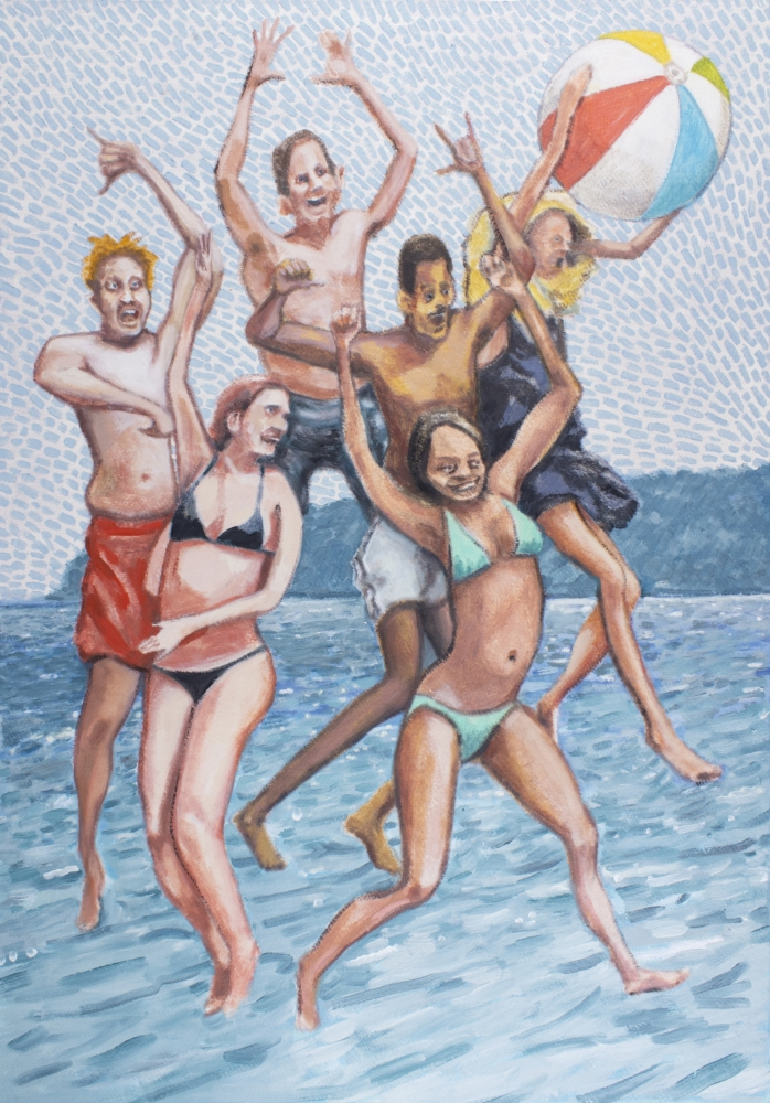 Rob Thom, Jumpy Beach w/ Ball, 2019