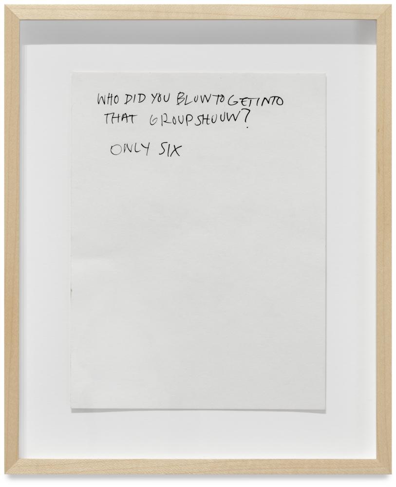 Austyn Weiner Only Six, 2020