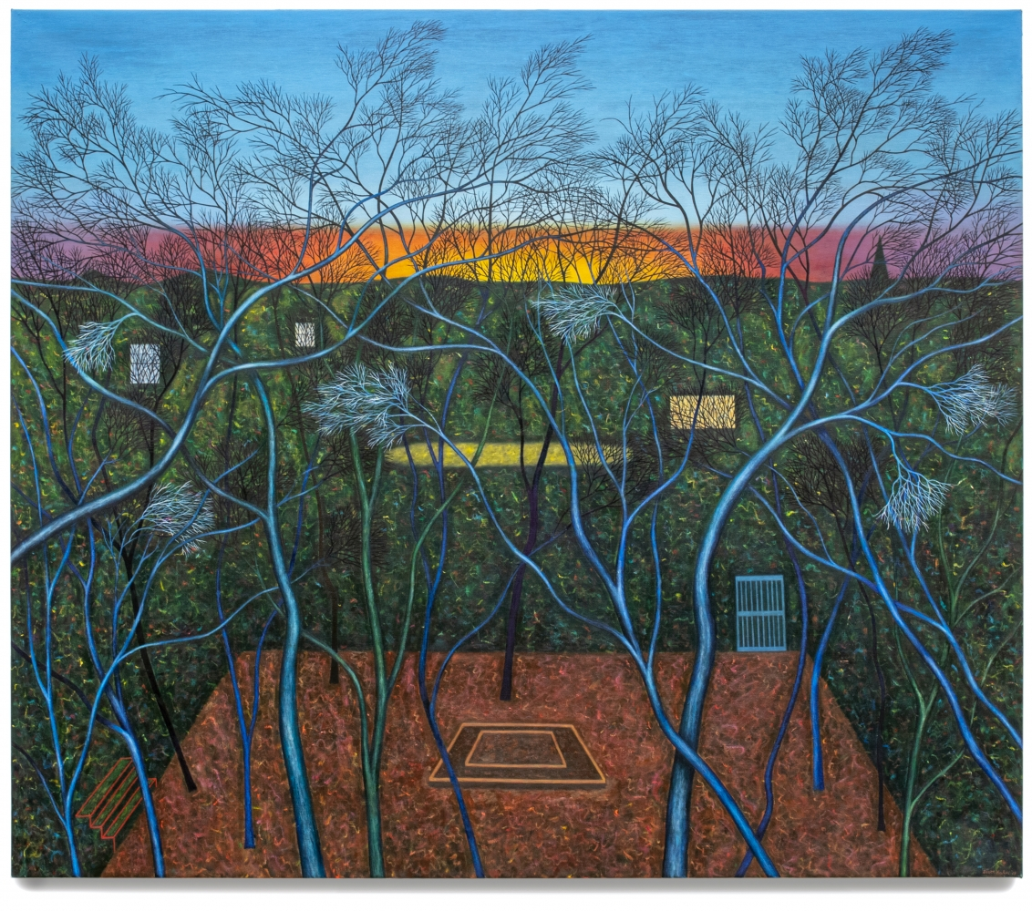Scott Kahn, Sunset from the Attic, 2018