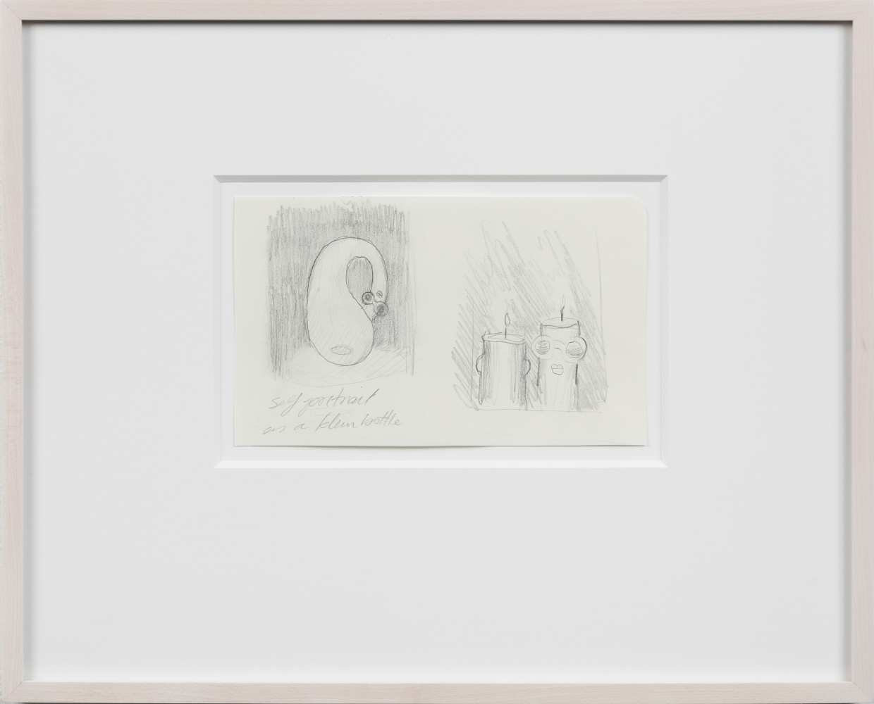 Emily Mae Smith Klein Bottle and Candles drawings 2017