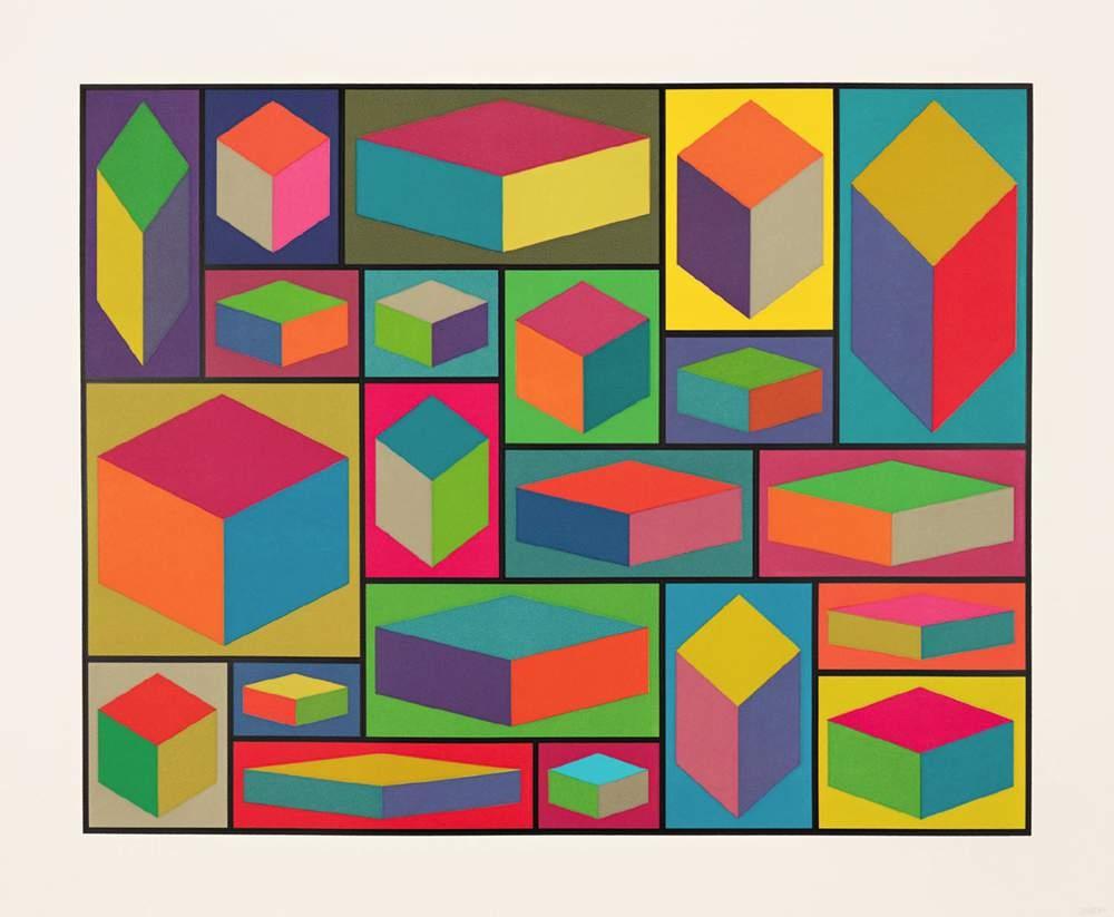 Sol Lewitt, Distorted Cubes (E), 2001