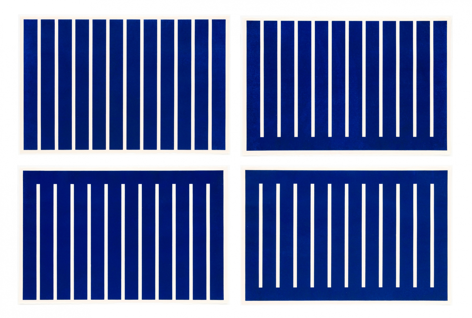 Donald Judd Untitled (Set of four blue woodcuts)