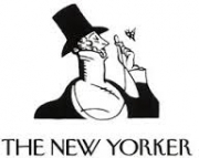 """new yorker logo for """"Writing on the Wall"""" by Peter Schjeldahl, 2013"""