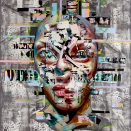 Justin Bower's Latest Oil Paintings of Glitchy Faces