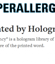 A Library Haunted by Hologram Books