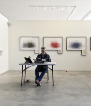 LA artist plans to connect with St. Louis novelist William Gass — by typing in the garage