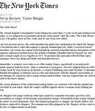 Art in Review; Victor Burgin