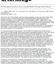 RE-reading Camera Lucida: Viewing Barthes through Victor Burgin