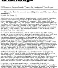 RE-reading Camera Lucida: Viewing Barthes through Victor Burgin