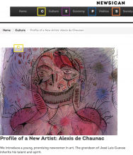 NEWSICAN,  Profile of a new Artist: Alexis de Chaunac