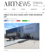 ARTNEWS, Here's the 2015 NADA NEW YORK EXHIBITOR LIST, March 11, 2015 by M. H. Miller