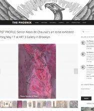 THE PHOENIX, Alexis de Chaunac's art to be exhibited starting May 17 at ART 3 Gallery in Brooklyn