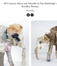 ARTSY Editorial | All Creatures Abject and Adorable in Dan Bainbridge's Brooklyn Bestiary, by Karen Kedmey, June 5th, 2015