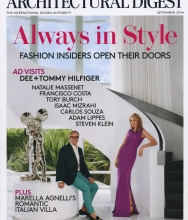 Architectural Digest, Anthony Miler in the home of Francisco Costa, September 2014