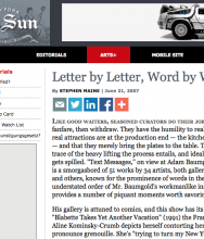 """THE NEW YORK SUN, """"Letter by Letter, Word by Word"""" by Stephen Maine"""