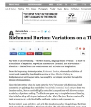 HUFFPOST ARTS & CULTURE, Richmond Burton: Variations on a Theme by Gabrielle Selz