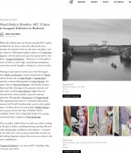 ARTSY Editorial  | Mixed Media in Brooklyn: ART 3 opens its Inaugural Exhibition in Bushwick.