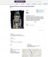 "NY ART BEAT, Alexis de Chaunac ""A Dance with Life & Death"""