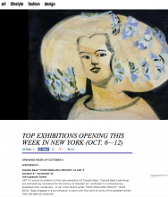 WHITEWALL Top Exhibitions Openings this week in New York (Oct.-6-12)