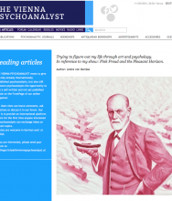 THE VIENNA PSYCHOANALYST, Leading Article  by ANDRE VON MORISSE