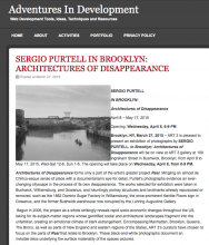 Adventures in Development, SERGIO PURTELL, IN BROOKLYN: ARCHITECTURES OF DISAPPEARANCE, March 27, 2015